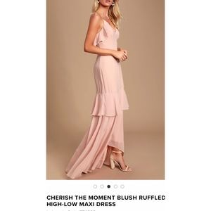 Lulu's Cherish The Moment Ruffled Maxi Dress